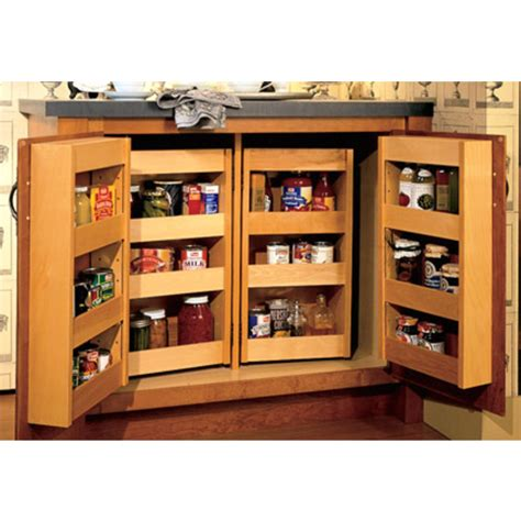 Pantry Shelf System by Pantries Hardwood 24 H Base Pantry System With Adjustable Shelves By Omega National