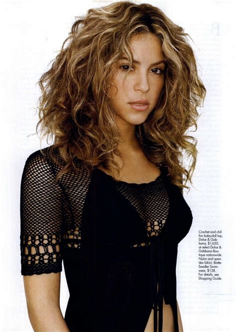 what products does shakira use on her hair shakira in a dolce gabbana crochet top very edgy