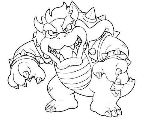 Bowser Coloring Page bowser coloring pages coloring home