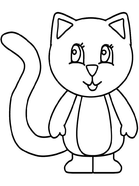 coloring page for cat cat coloring pages coloringpagesabc com