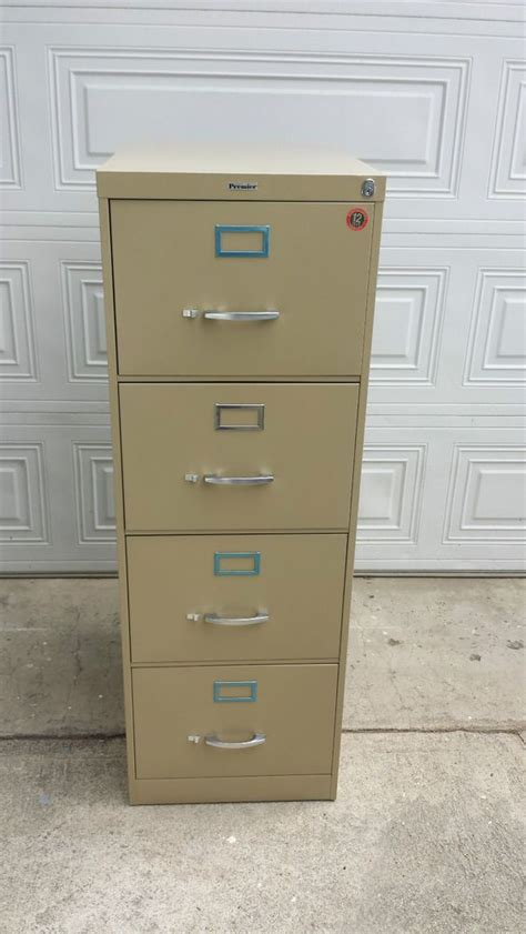 file cabinet 4 drawer w 2 lock premier vertical
