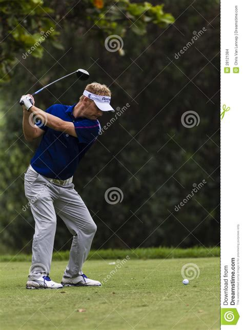 swing pro golf golf pro tee swing editorial stock image image 28121384