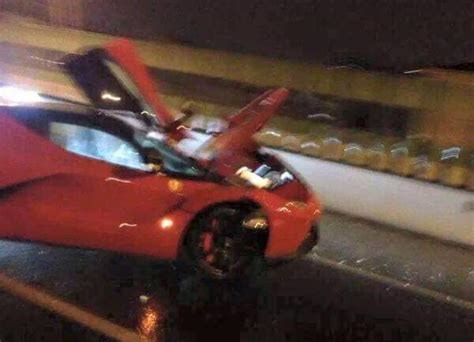 laferrari crash ferrari laferrari crashed in shanghai gtspirit