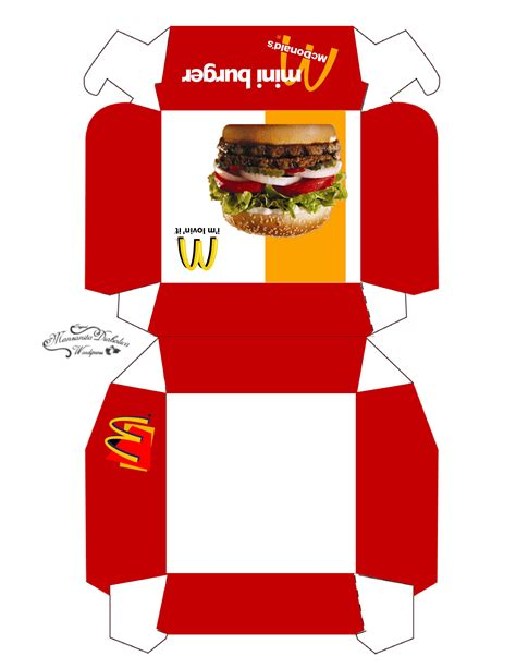 hamburger template printable burger box template manzanitadiabolica box