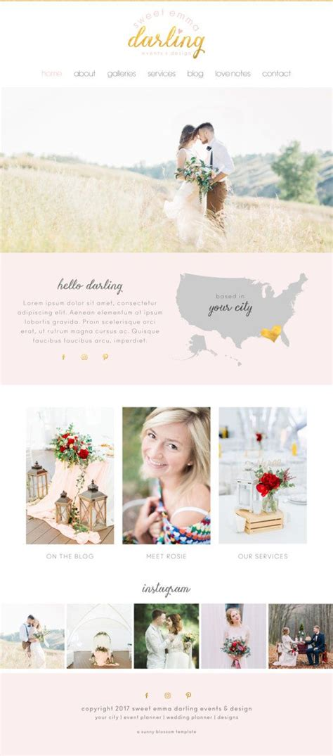 Best Wedding Photography Websites by Best Wedding Photography Website Templates Mini Bridal