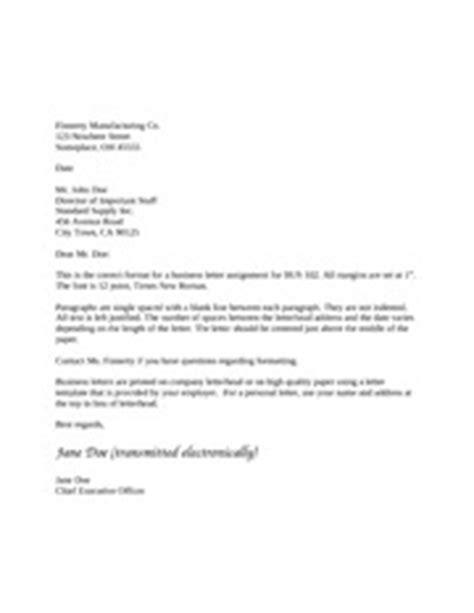 Business Letter Length Business Letter Format Depending On The Length Of The Letter The Letter Should Be Centered Just