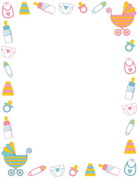 free border templates for baby showers printable baby shower border free gif jpg pdf and png