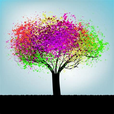 Colorful Tree by Abstract Colorful Tree With Copy Space Eps 8 Vector File