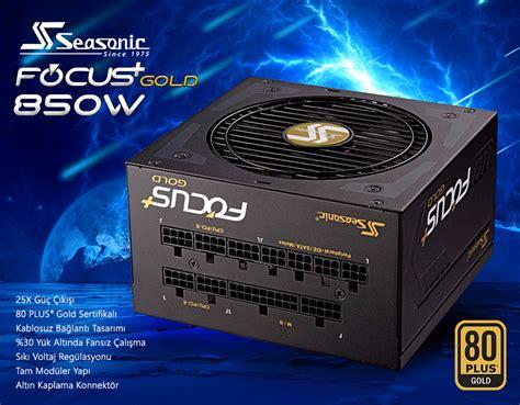 Seasonic Focus Plus Gold Fx 850 80 Gold Modular 10 Year Warranty seasonic focus plus 850w 80 gold tam mod 252 ler g 252 231 kaynağı ssr 850fx
