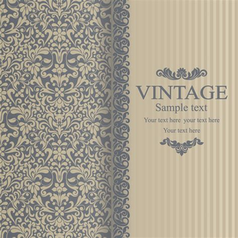 vintage layout design free floral vintage backgrounds vector 04 over millions
