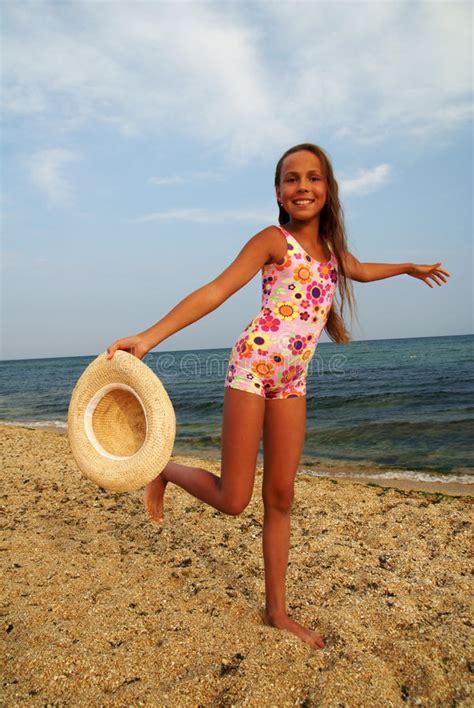 preteen nudism preteen girl on sea beach stock image image of caucasian