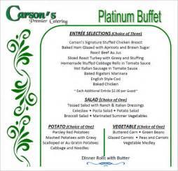 banquet menu template 14 banquet menu templates sle templates