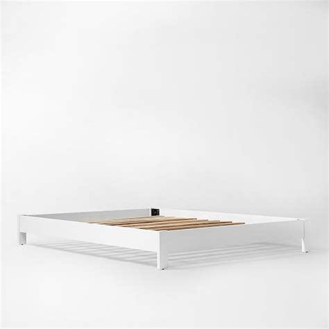 low bed frame simple low bed frame white west elm