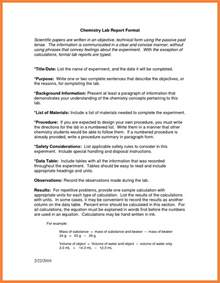 9  chemistry lab report example   Marital Settlements