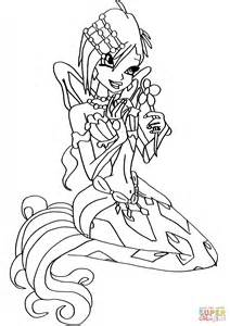 winx mermaids coloring pages mermaid tecna coloring page free printable coloring pages