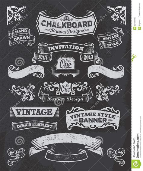 calligraphy ribbon banner labels printables pinterest chalkboard banners free download chalkboard banner and