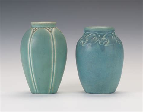 two rookwood pottery vases ca 1938 and 1921 09 04 14
