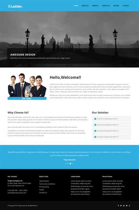 bootstrap themes free product ladder responsive website theme bootstrap