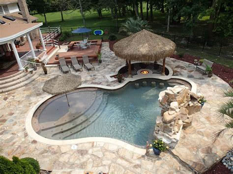 pool fire pit share