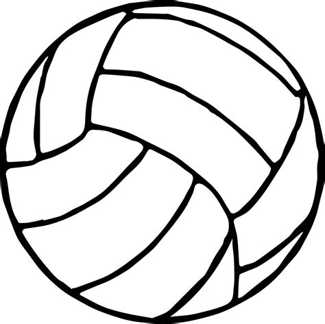 volleyball ball coloring page wecoloringpage