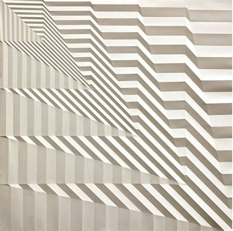 Paper Folding Patterns - artist creates mesmerizing geometric patterns by folding