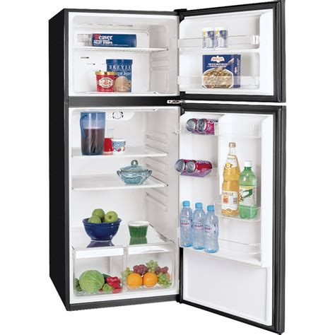 clear glass door refrigerator frigidaire ffpt10f3mb 9 9 cu ft apartment top freezer