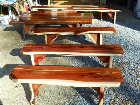 cedar log bench wood furniture pinterest custom made eastern redcedar benches furniture pinterest cedar bench and yard
