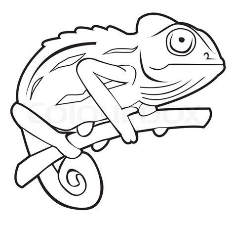 chameleon template chameleon stock vector colourbox