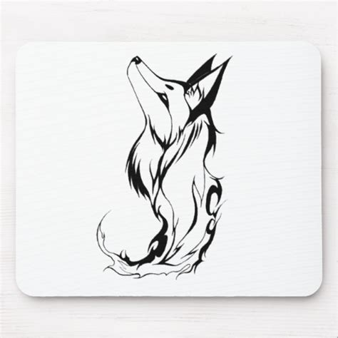 tribal mouse tattoo tribal fox design mouse pad zazzle