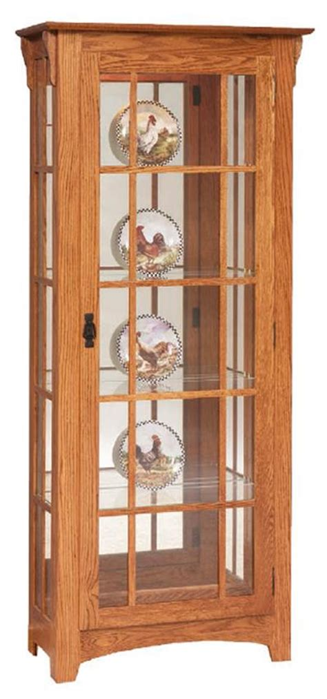 mission style curio amish mission curio with mullions