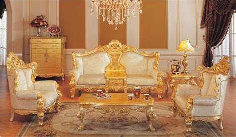 All White Bedroom Ideas classic furniture sofa set all golden solid wood living