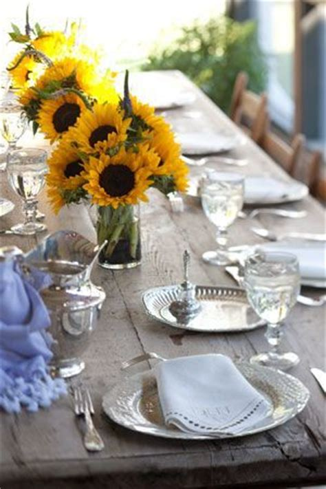 sunflower table settings sunflowers sunflower centerpieces and outdoor table