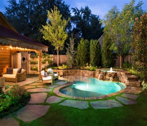Backyard Makeover With Pool Swimming Pool In Backyard Home Swimming Pools Inground Swimming Pools Pool Ideas Suncityvillas