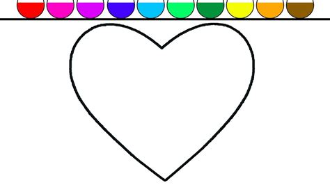 hear colors learn colors for and color shape coloring page