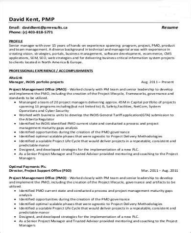 programming projects for resume sle program manager resume 7 exles in word pdf