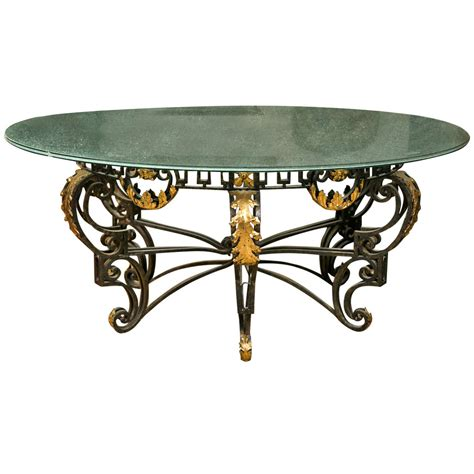 nouveau style crackle glass dining table at 1stdibs