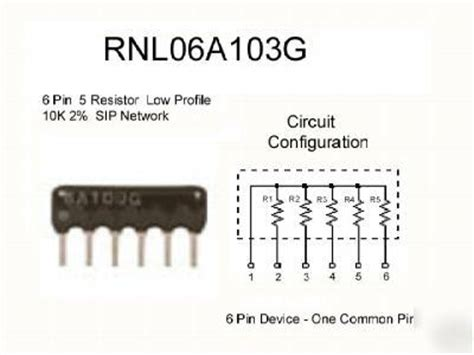 resistor network 10k 10k ohm 2 6p5r low pro sip resistor network 200 pack