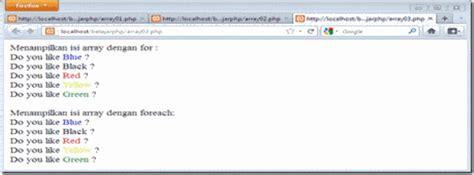 isi for array pengertian contoh program array pengembangan layanan it