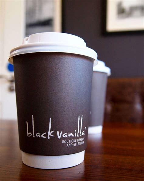 Cups Coffee Shop black vanilla gelateria logo design