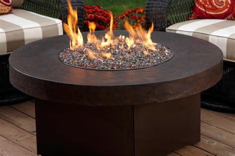 Portable Propane Fireplace by Oriflamme Gas Fire Pit With Savannah Stone Table Top