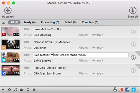 download mp3 from youtube list full list of applications by mediahuman
