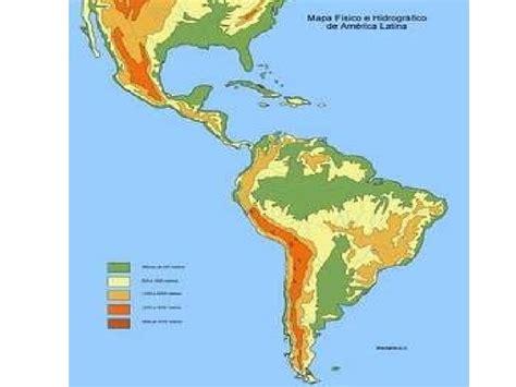 accidentes geograficos de america el relieve de america