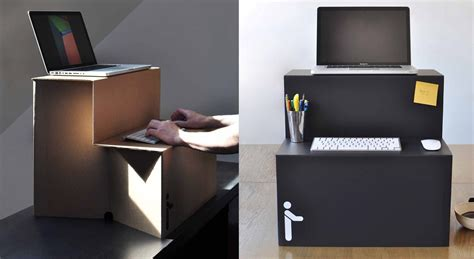 cardboard standing desk is only usd 25 springwise