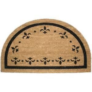 Half Doormat Fleur De Lys Vinyl Back Coco Doormat Half Walmart