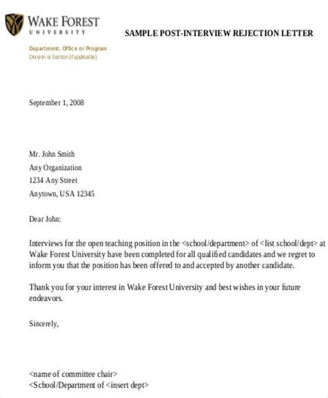 Rejection Letter Background Check Sle Formal Letter 9 Exles In Word Pdf