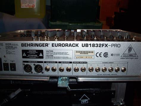 Mixer Behringer Ub1832fx Pro behringer eurorack ub1832fx pro image 206132 audiofanzine