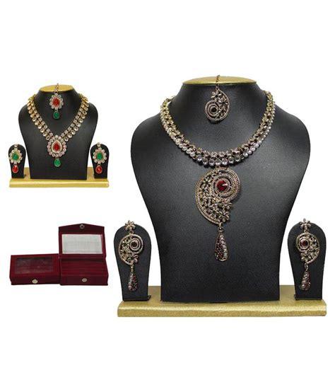 Trinket Box Necklace Kalung Fashion sewad multicolour combo of necklace set and trinket box
