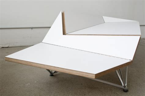 Origami Piano Bench - origami bench by blacklab architects design milk