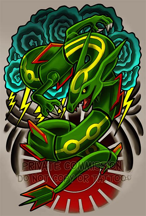 rayquaza tattoo commission by retkikosmos on deviantart