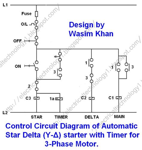 3 phase induction motor circuit diagram pdf 3 phase motor starting method by automatic delta starter operation and working principle of